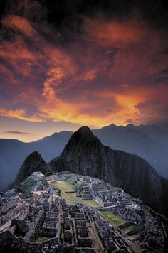 """Sunset Over Machu Picchu, Peru"" by Galen Rowell"