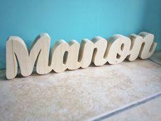 Prénom en bois MANON