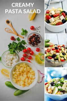 Tips for making good pasta salad. Use the right kind of pasta. Pasta salad requires a small shaped pasta such as penne, bowtie or spiral pasta. Long pasta such as spaghetti or a fresh fettuccine wouldn't mix well or fork up well as a pasta salad. Creamy Pasta Salads, Best Pasta Salad, Easy Pasta Salad Recipe, Kraft Recipes, Paleo Recipes, Cooking Recipes, Easy Dinner Recipes, Holiday Recipes, Spiral Pasta