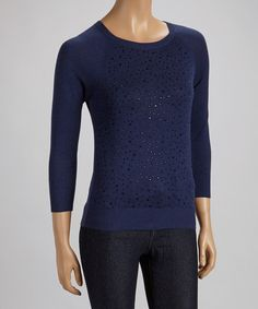 Take a look at this Blue Beaded Sweater on zulily today!