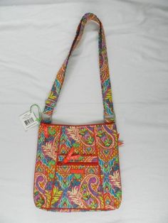 New Vera Bradley Paisley in Paradise Hipster NWT Pink Red Floral Tropical   VeraBradley  MessengerCrossBody 070d26909da1a