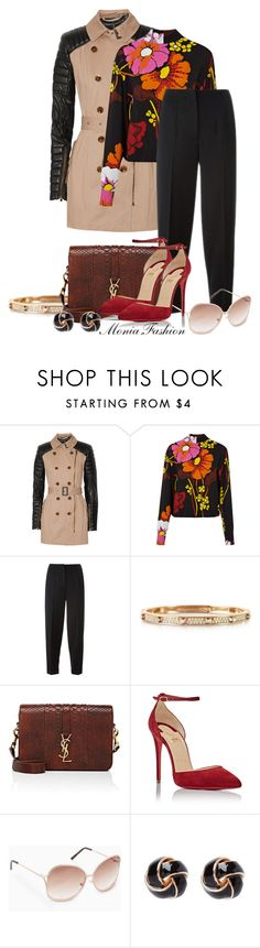 """""""trench"""" by monia-fashion ❤ liked on Polyvore featuring W118 by Walter Baker, Marni, Alexander McQueen, Michael Kors, Yves Saint Laurent, Christian Louboutin and MANGO"""