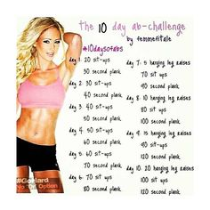 10 day Ab Workout challenge. Might have to try this before Key West :)