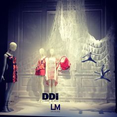 LIM College visual merchandising students put together these  window displays at Saks Fifth Avenue in the DDi Window Challenge