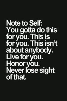 To future self.