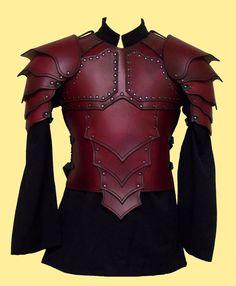 Custom-designed leather armor