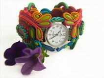 Soutache Jewelry, Bracelet Watch, Etsy, Bracelets, Accessories, Vintage, Fashion, Moda, Fashion Styles