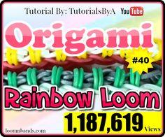 Rainbow Loom #40 EAsy Origami Bracelet By TutorialsByA