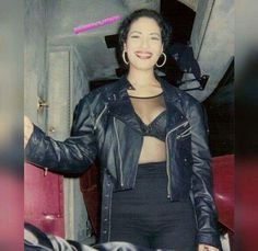 Selena And Chris, Selena Selena, Selena Quintanilla Perez, Now And Forever, Leather Jacket, Celebrities, Outfits, Queen, Tex Mex