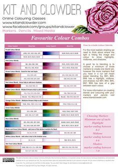 Spectrum Noir color blends; copic to Spectrum conversion