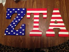 ZTA wooden letters. Big/Little craft for initiation