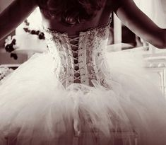 OMG. I LOVE corset back wedding dresses! It adds a little sexiness while still being elegant.