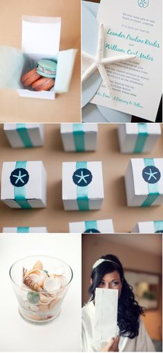 Cute and tasty invitations/favors, however I don't know about the whole beachy-theme. // #decor #fun