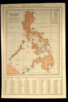 Antique Map Philippine Islands the Philippines Railroad 1919 World Globes, Old Maps, Vintage Maps, Filipino, Geography, Philippines, Countries, Islands, Asian