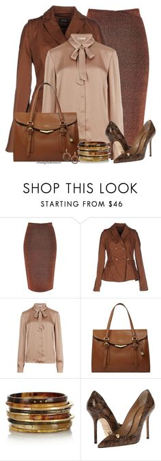 """Office Wear-Browns"" by honkytonkdancer ❤ liked on Polyvore featuring River Island, AMY GEE, M&S Collection, Fiorelli, Ashley Pittman, Dsquared2, officewear and fallfashion"