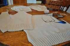 KNITTING Reclaiming & Recycling Wool Yarn