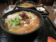 Real Japanese Ramen Noodles in Tokyo, Japan.