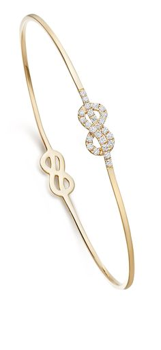 Amity Diamond Double Knot Bangle