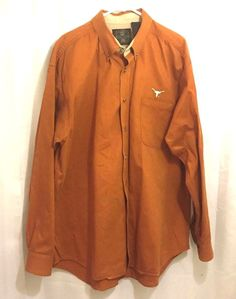 University of Texas Longhorns XL Shirt Burnt Orange Infinity Classics  #Infinity #ButtonFront