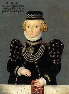 Portrait of Sophia of Liegnitz (Legnica) (1525-1546), ca. 1580 (PD-art/old), Jagdschloss Letzlingen