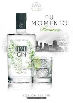Gin Level London Dry Gin, by Teichenné by Montse Bernaus , via Behance