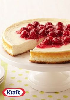 """Cherry Cheesecake Made Over – Yes, creamy cheesecakes can fit into a Healthy Living eating plan. Just ask our simply delightful cherry-topped dessert recipe with a chocolate crumb """"crust."""""""