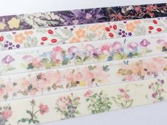Washi Tape Samples Set - 4 designs, 1m from each design - Free Shipping