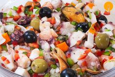 Healthy Salads, Healthy Drinks, Healthy Dinner Recipes, Vegetarian Recipes, Cooking Recipes, Cooking Videos, Seafood Salad, Fish And Seafood, Seafood Recipes