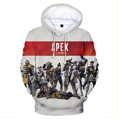 This Hoodie Jacket has a print of all the characters in APEX LEGENDS. Grab one and show it to your friends. Perfect outfit for group hang outs.