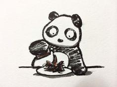 2013.11.20 【一日一大熊猫】 一滴ずつ注げる醤油が大人気らしいよね。 でも、しっかりかけた方が美味しい事もあるから その時はドモホルンリンクルみたいに 一滴一滴待たなくちゃね。。。