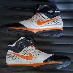 '2007 Nike iD Air Zoom Kobe II 2 White/Black-Orange Blaze Size 13 318413-991 #Nike