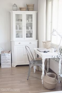 white desk home office. Contemporary Office White Workspace With A Hint Of Grey And Desk Home Office
