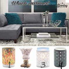 Which wax warmer would YOU choose for this room from Scentsy's Spring and summer 2017 collection? #homedecor #wickless #candles #scentsbykris
