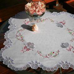 Tablecloth Ella - Embroidered Necessity | OregonPatchWorks