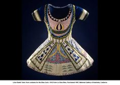 Léon Baskt Tunic from costume for the Blue God c 1912 from Le Dieu Bleu. Purchased 1987, National Gallery of Australia, Canberra