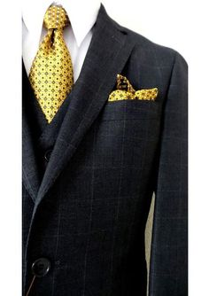 Look dapper and stylish with Bertolini brand 2 buttons slim fit vested suit for men.