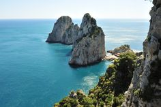 Faraglioni is the collective name for three stacks located off the island of Capri in the Bay of Naples.