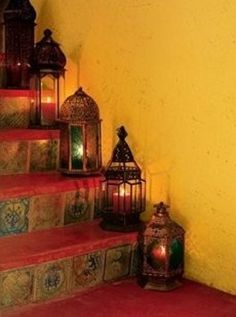 liking both....the steps and the lanterns and the idea of using them this way