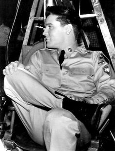 "Elvis - candid on the set ""GI Blues"" - such a handsome man!"