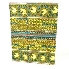 Green Rows Hard Cover Journal - Sustainable Threads (J)