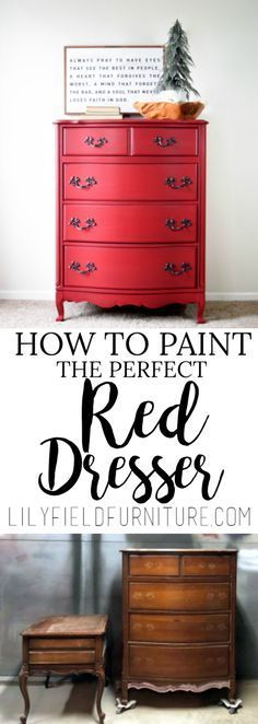 How to Paint the Perfect Red Dresser! - Lily Field Co.