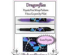 Bead Pattern PeyotePen Wrap/CoverPink Rose by FUNPATTERNDESIGNS