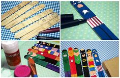 BeÚtil | Divertidos Separadores para Libros Reciclando Palitos de Paleta Home Crafts, Easy Crafts, Arts And Crafts, Hacks Videos, Diy Videos, Superhero Classroom, Diy Bookmarks, Book Markers, Teen Kids