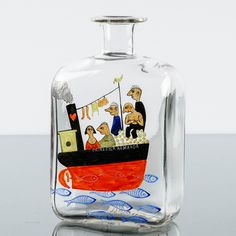 Tapio Wirkkala, IITTALA, signeerattu -48, Prinsessa Armaada, k 18,5 cm Vodka Bottle, Drinks, Drinking, Beverages, Drink, Beverage