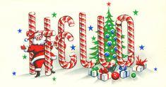 Hello Christmas card cover