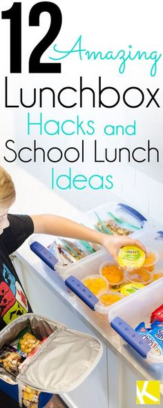 12 Amazing Lunchbox Hacks & School Lunch Ideas - Calling all parents! Packing school lunches just got easier! Here are our favorite lunchbox hacks and ideas even picky eaters will like! Cold Lunches, Lunch Snacks, Healthy Lunches, Bag Lunches, Kid Snacks, Snack Bags, Healthy Breakfasts, Eating Healthy, Kids Lunch For School