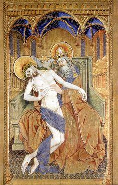 ROBERT CAMPIN (1375 - 1444) |  Trinity of the Broken Body