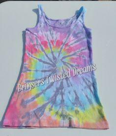 Tie Dye- Ladies Tank Top- Size Small- Sleep wear- Undershirt- Rainbow Christmas Gift- Cheap Christmas Gift- Sleeveless Tee-shirt by BrinserTwistedDreams on Etsy