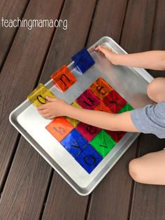 Dry erase comes right off tiles, spell your name. Fun Activities For Toddlers, Motor Activities, Magna Tiles, Magnetic Building Blocks, Spell Your Name, Language Development, Thoughts And Feelings, Fine Motor, Classroom Management