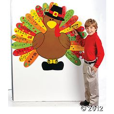 We are Thankful for... Have kids write what they are thankful for on feathers.